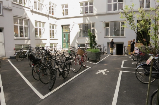 There's a CNC fabrication shop in that basement. Copenhagen knows how to make a courtyard.