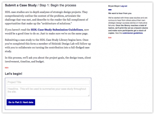 "A screenshot of the submission process (<a href=""http://www.helsinkidesignlab.org/submission/edit"">still live</a>) which gets little use."
