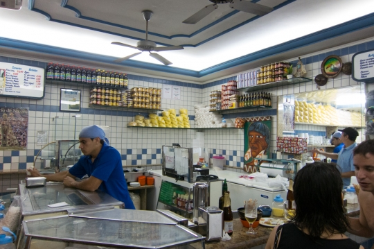 """Of course I took the opportunity to check out local street food and other eats. <a href=""""http://en.wikipedia.org/wiki/A%C3%A7a%C3%AD_palm"""">Açai</a> remains my favorite snack in Brazil."""