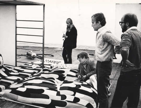 Contemplating an environment for Mentally Handicapped Children at HDL 1968. Photo by Kristian Runeberg.