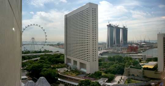 A view over Singapore's developing waterfront snapped in between conference sessions.