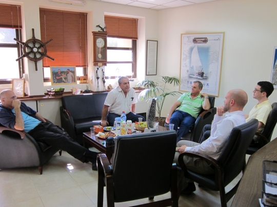 A visit with the Mayor and Deputy Mayor of Emek Hefer Regional Council, and CEO, Sharon Drainage Authority.