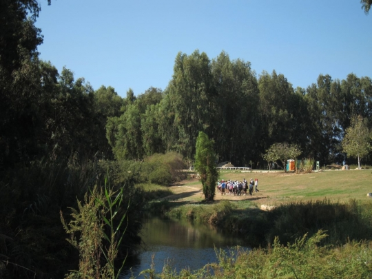 The lush Alexander River, now enjoyed by visitors from all over Israel, used to be a sewage canal.