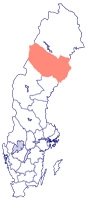 Västerbotten is about the same size as Denmark but has only 1/16th the population.
