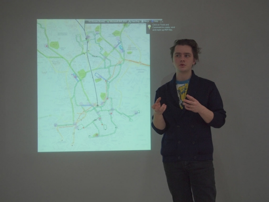 Mapping kioski, disused tramlines and public spaces.