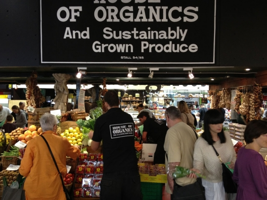 Adelaide's excellent Central Market indicates the value of local, organic everyday food.